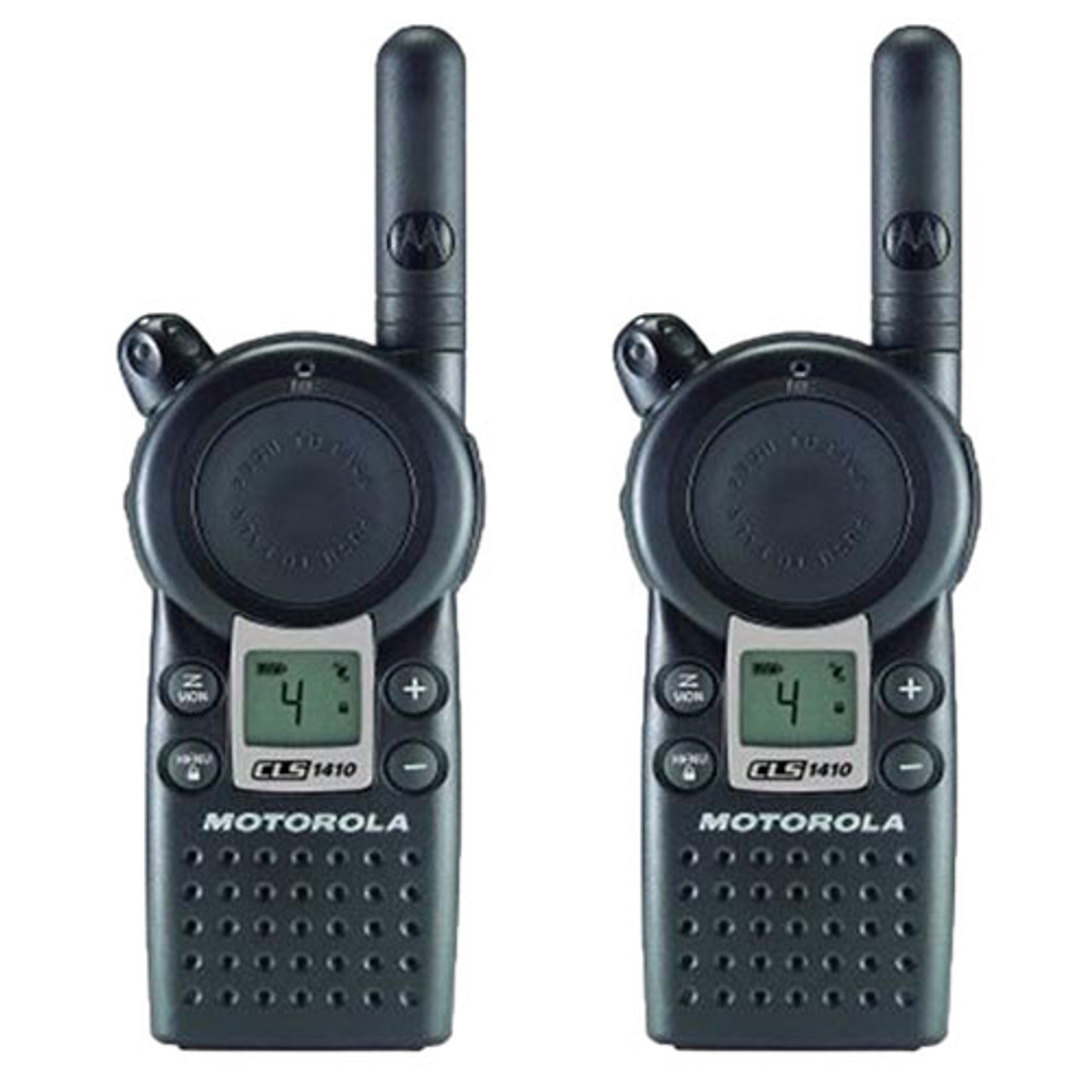 Motorola CLS1410 1 Watt 4 Channel UHF Two Way Radio Bundle of 2 Two Way Radios