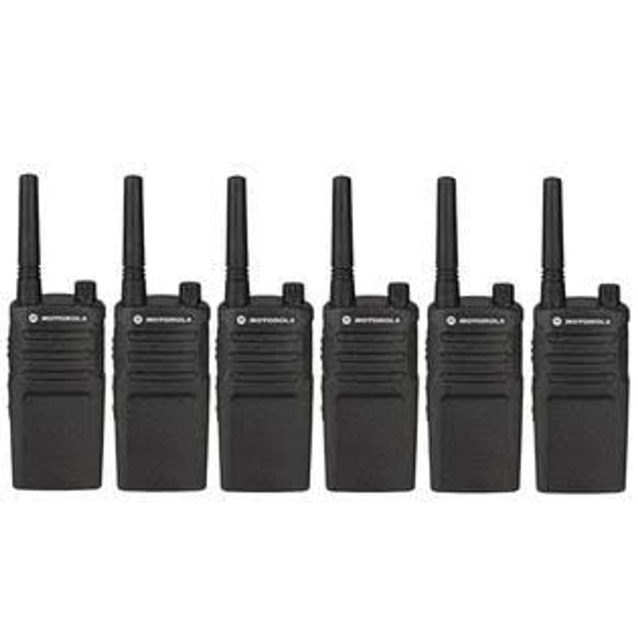 6 Pack of Motorola RMM2050 Two way Radio Walkie Talkies