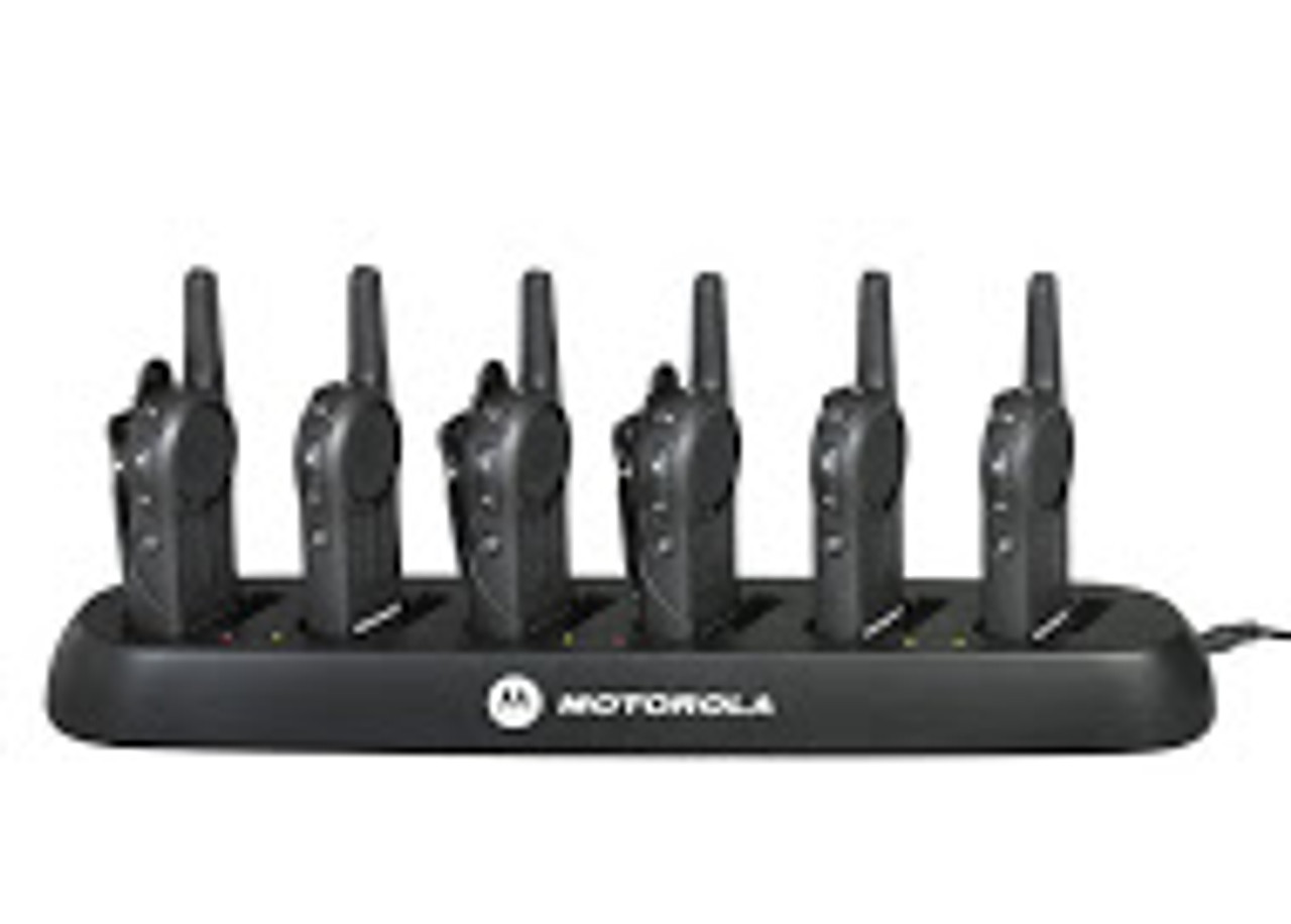 Motorola DLR1020 in a six port charging tray