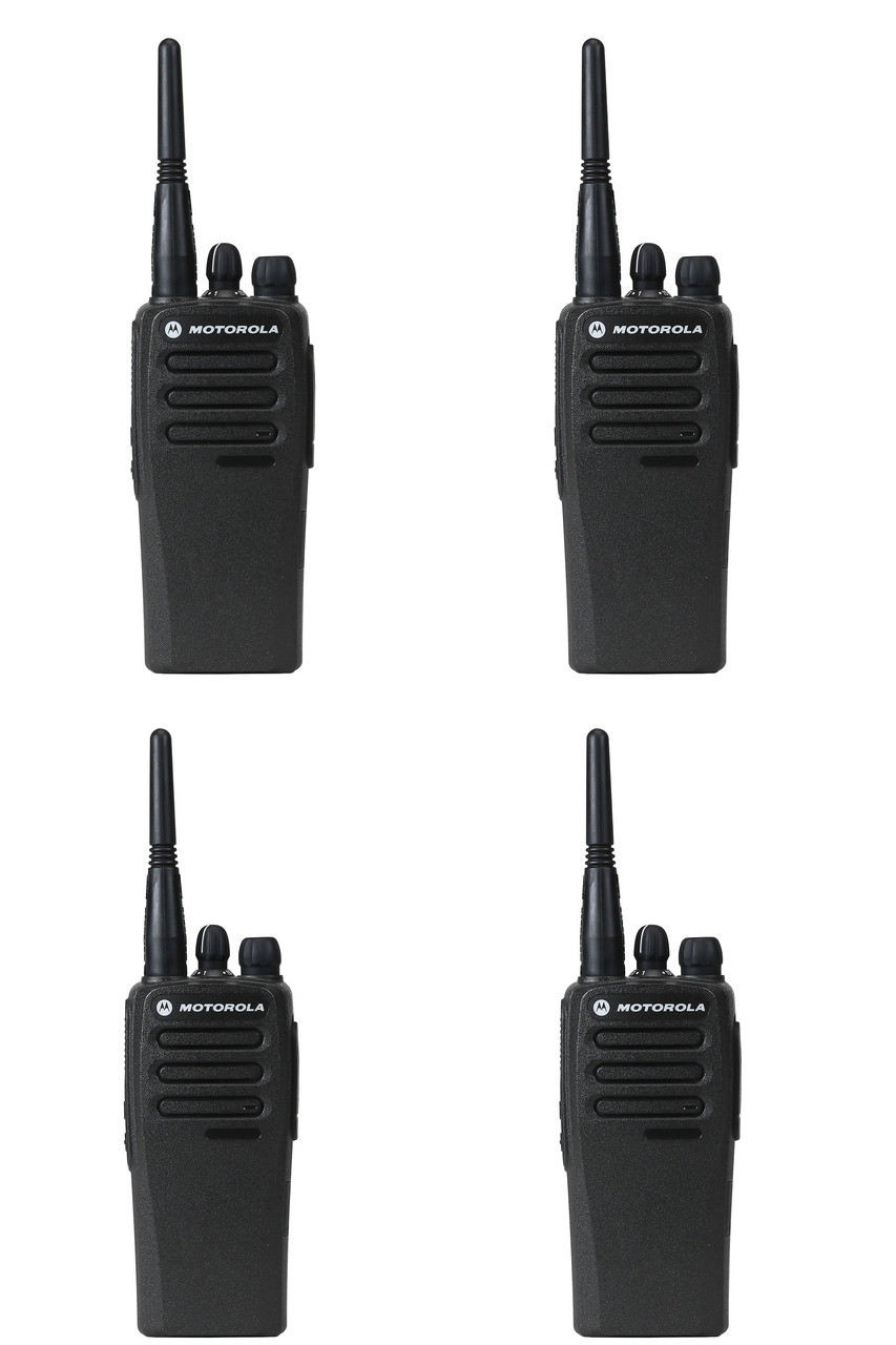 Motorola CP200d UHF Digital Two Way Radio, Pack of 4