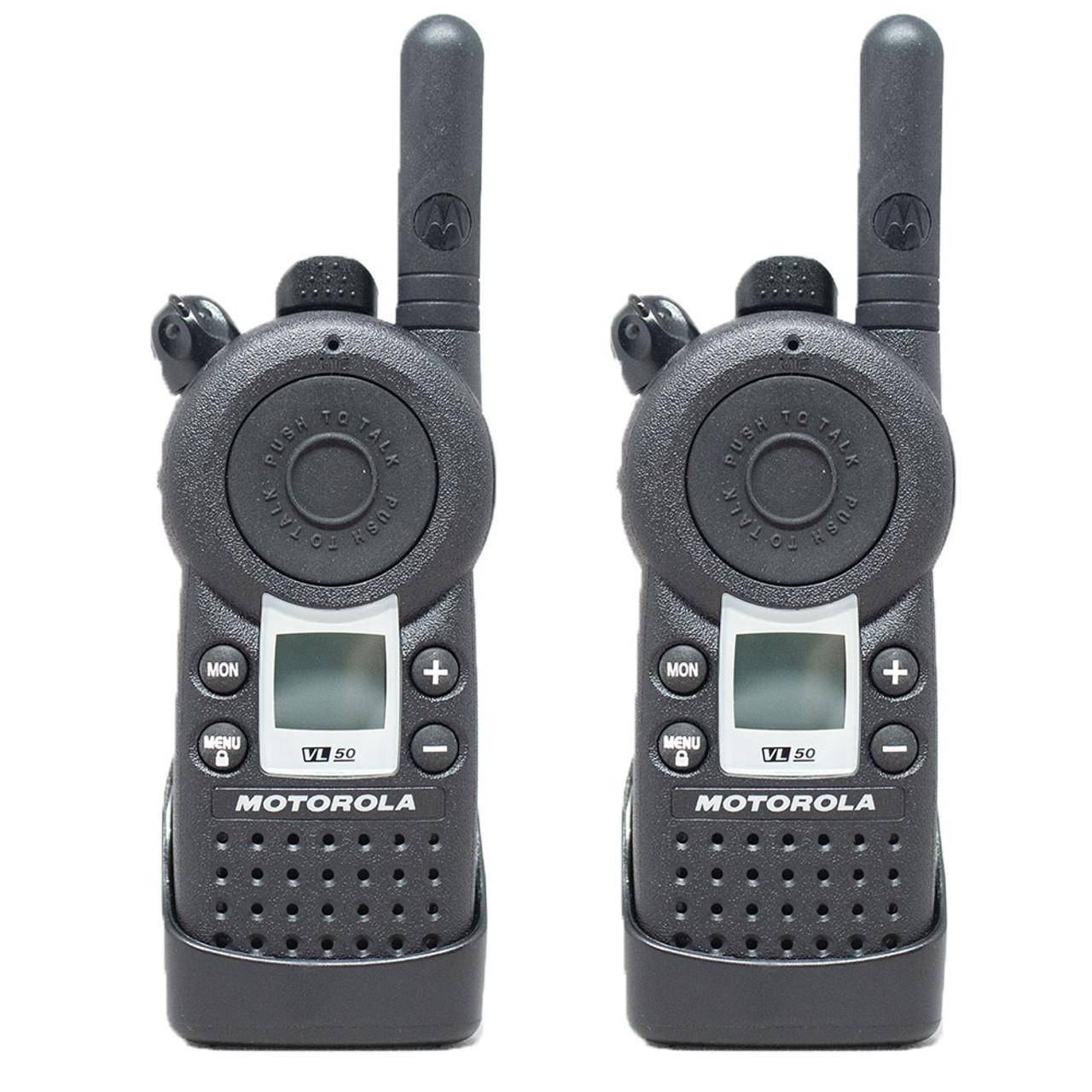 Motorola VL50 1 Watt 8 Channel UHF Two Way Radio, Pack of 2