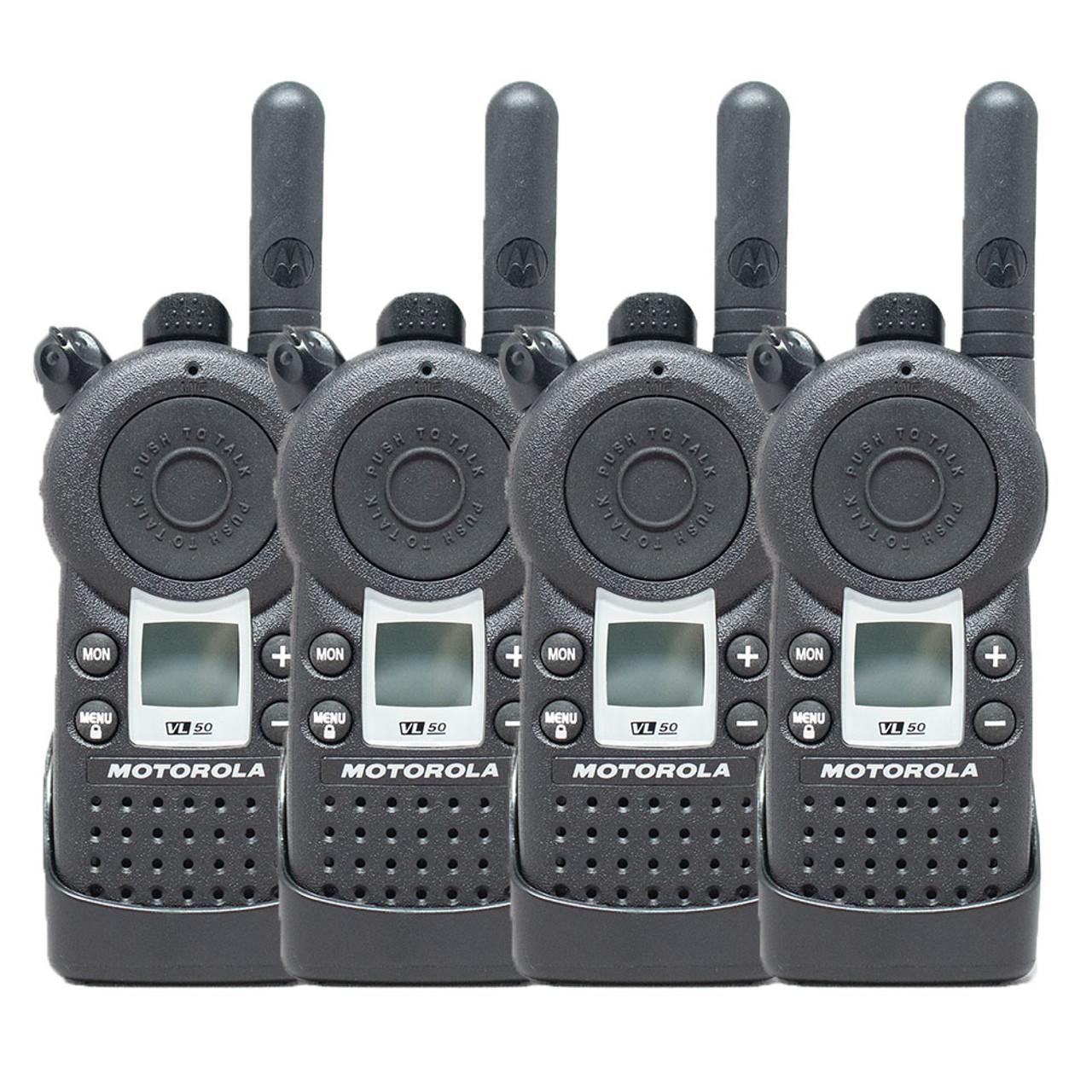 Motorola VL50 1 Watt 8 Channel UHF Two Way Radio Pack of 4