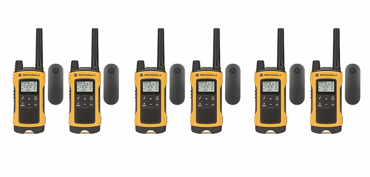 Pack of 6 Motorola T402 Talkabout Two Way Radios