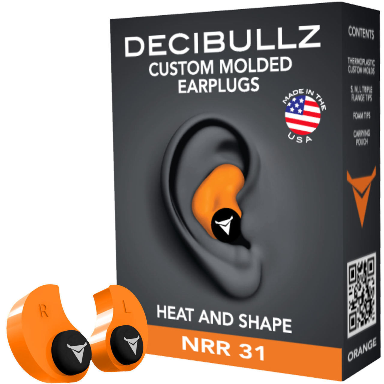 DECIBULLZ Custom Molded Earplug for Surveillance Microphones