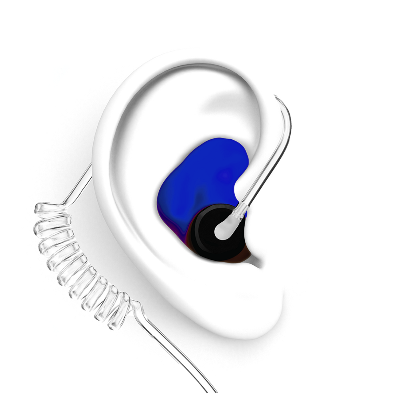 DECIBULLZ Blue Two Way Radio Headset Ear Plug