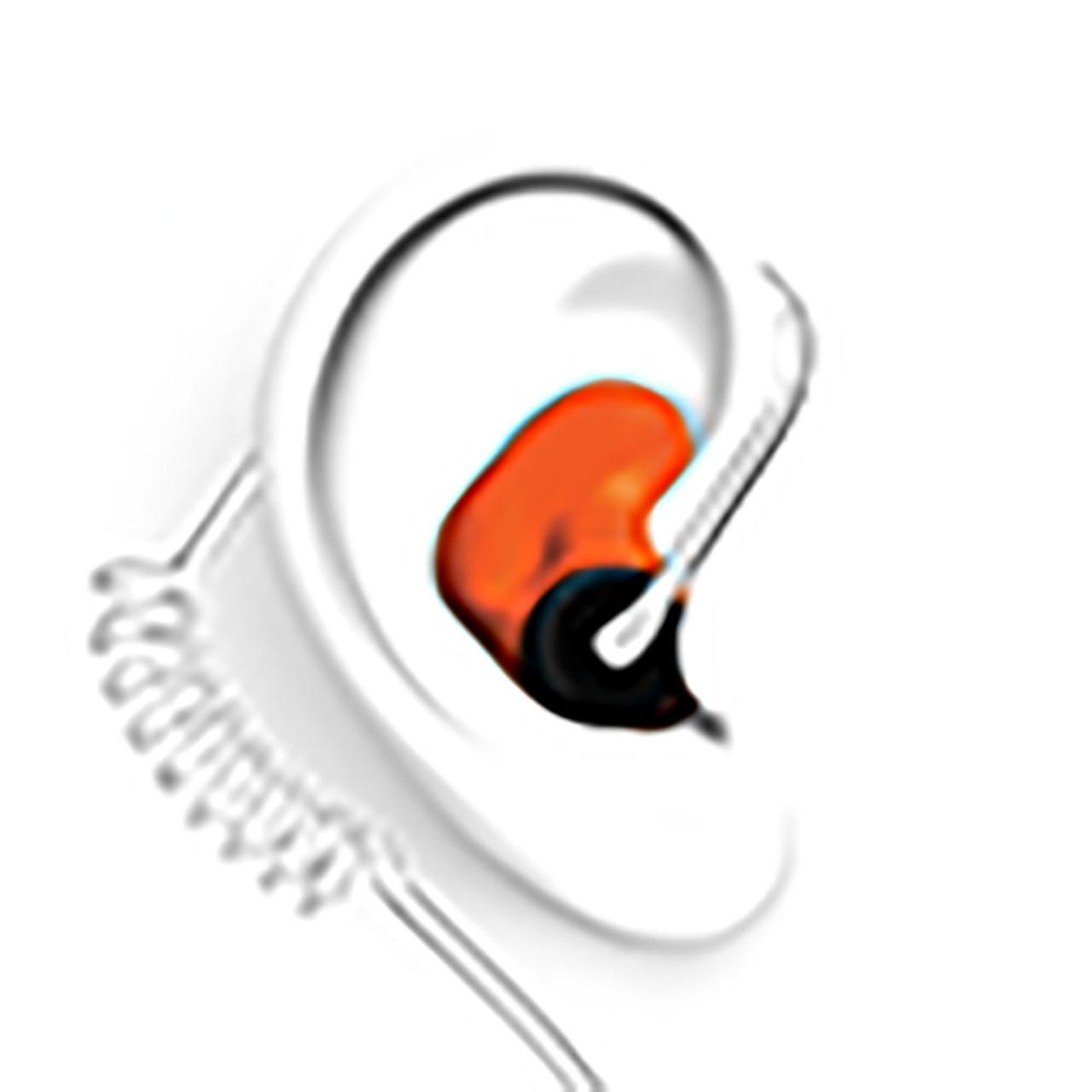 DECIBULLZ Orange Custom Earplug for Two Way Radio Headsets