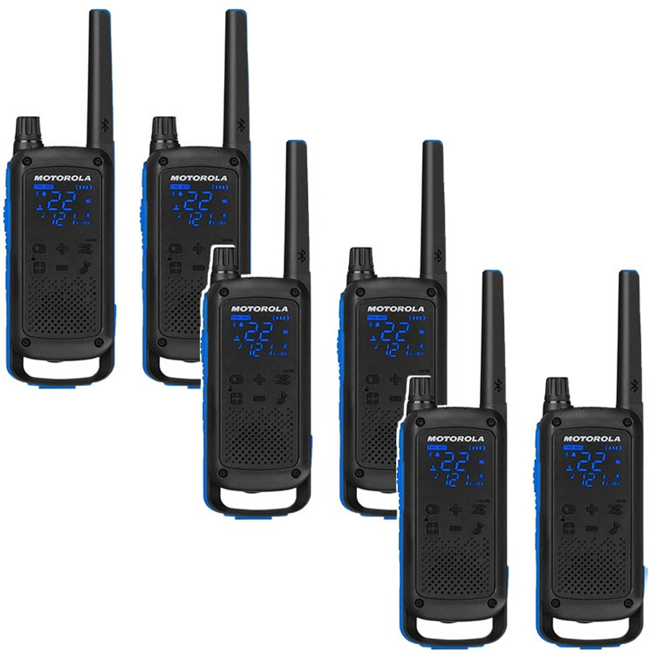 Motorola Talkabout T800 two way radio pack of 6