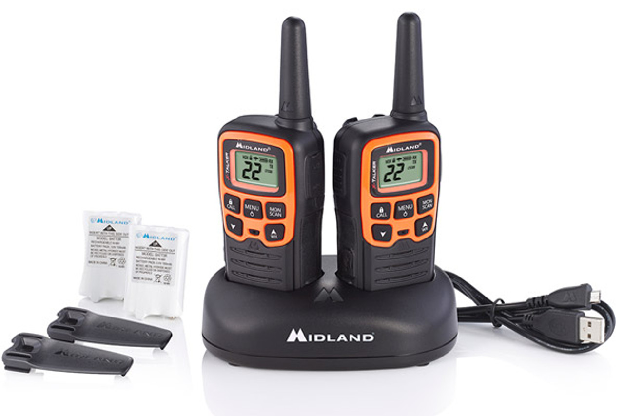Midland T51VP3 22 Channel FRS Two Way Radio Bundle