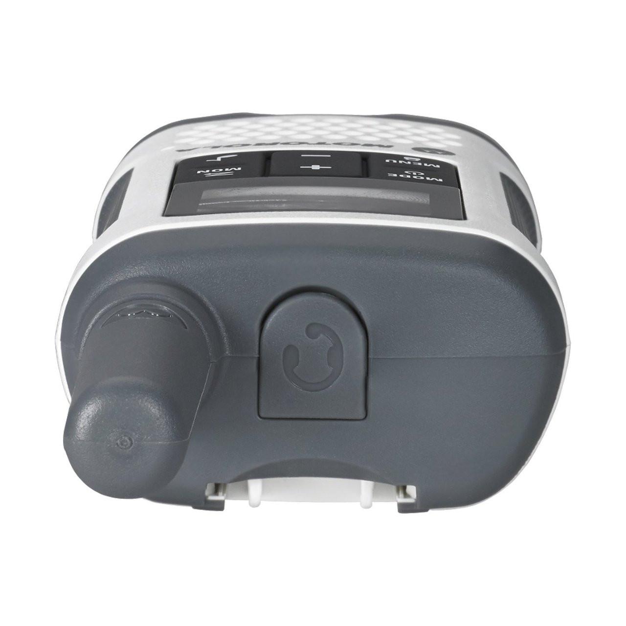 Motorola T260 walkie talkie top view