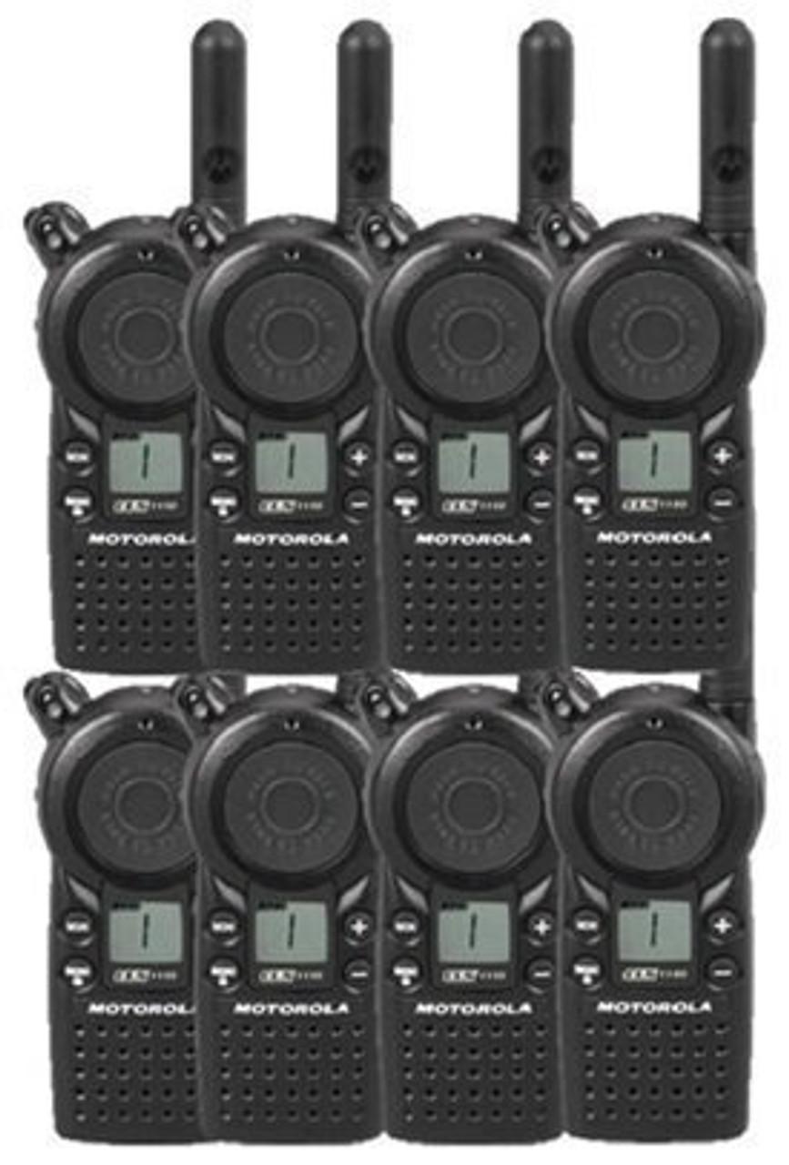 2 Pack of Motorola CLS1110 Two Way Radio Walkie Talkies with Headsets