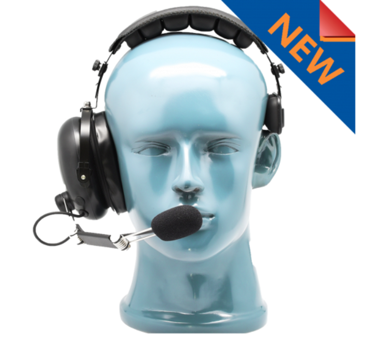 National 2 Way Single Muff Headset with Noise Canceling Microphone