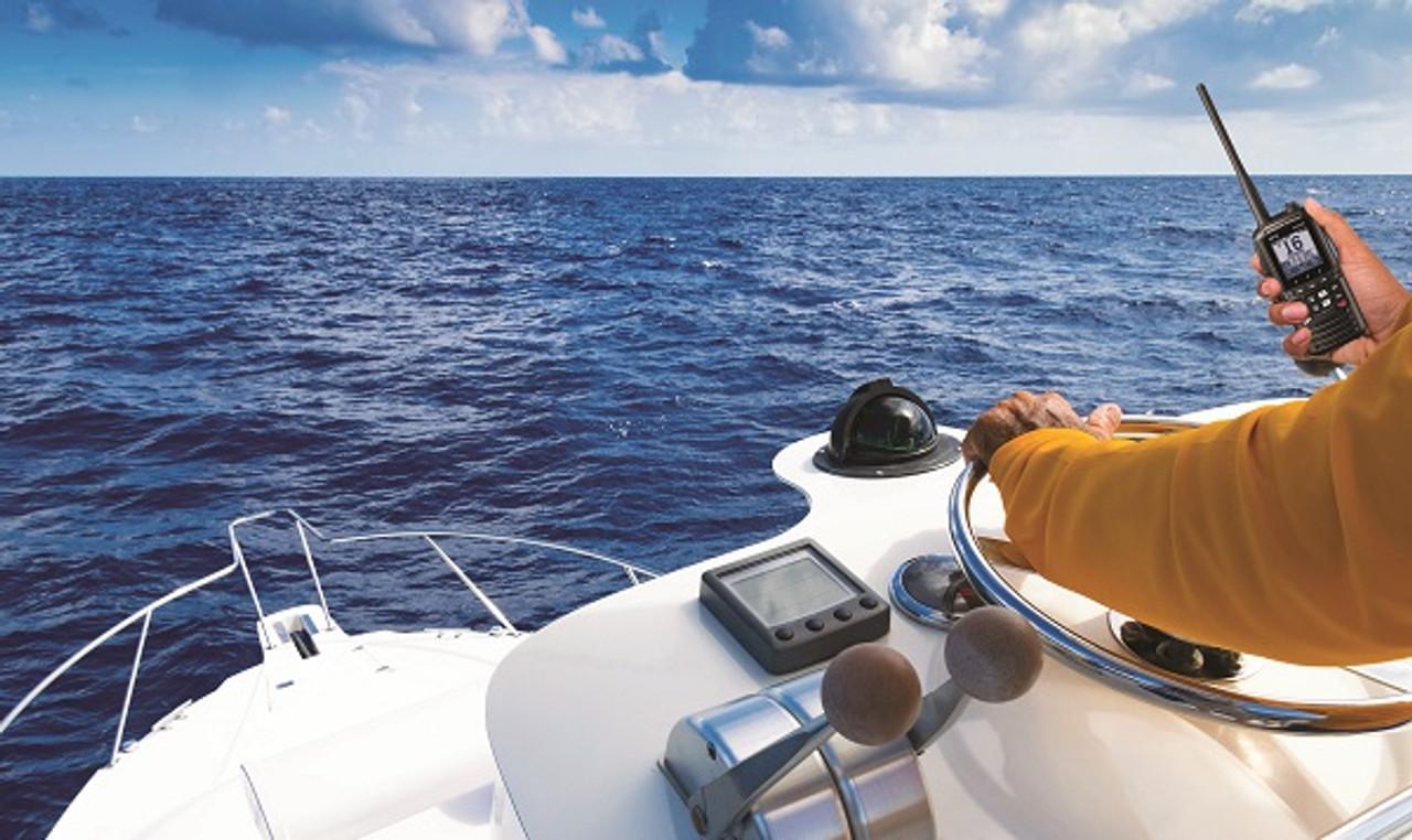 Standard Horizon HX890 Marine VHF/GPS Handhelds are waterproof