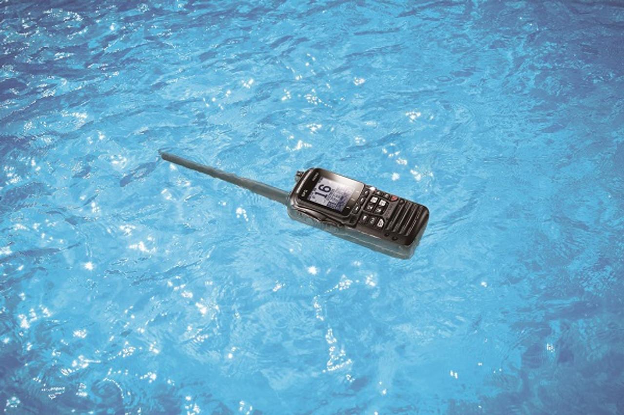 Standard Horizon HX890 Marine Handhelds Float & Emit a White Beacon when submerged