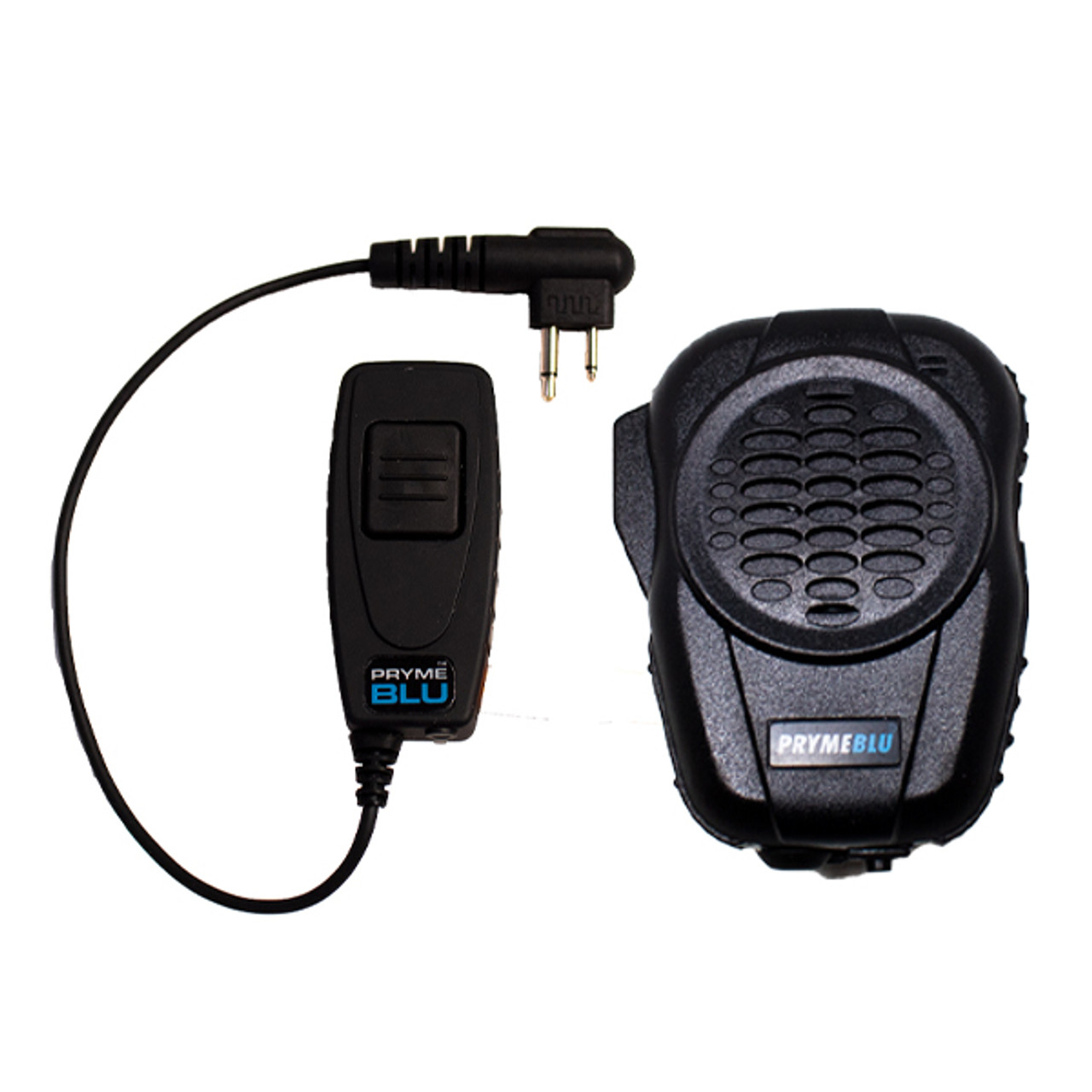 Wired Fox Bluetooth Speaker Mic Kit for Motorola Two Way Radios with 2 Pin Accessory Ports