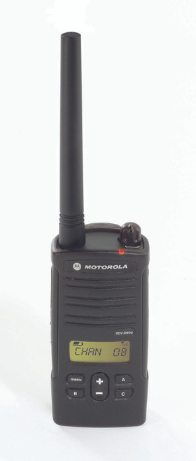 Motorola RDM2070d 2 Watt 7 Channel VHF two way radio manufactured exclusively for Walmart