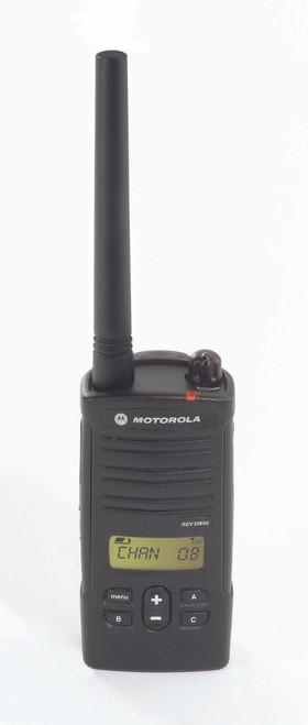 Motorola RDM2070d 2 Watt 7 Channel VHF two way radio manufactured exclusively for Walmart