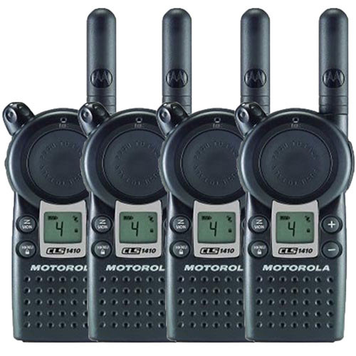 Motorola CLS1410 1 Watt 4 Channel UHF Two Way Radio Pack of 4