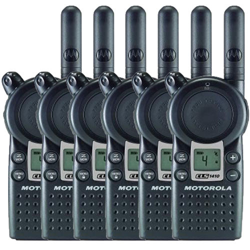 Motorola CLS1410 1 Watt 4 Channel UHF Two Way Radio, Pack of 6