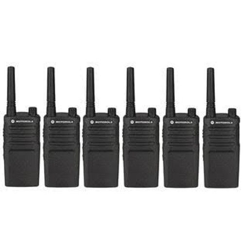 Motorola RMU2040 2 Watt 4 Channel UHF Two Way Radio, Pack of Six