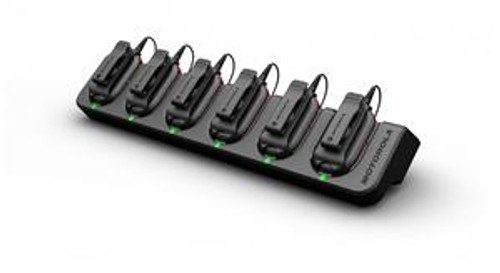 Motorola CLP1010 UHF Two Way Radio 6 Pack with included Multi-Unit Charging  Tray