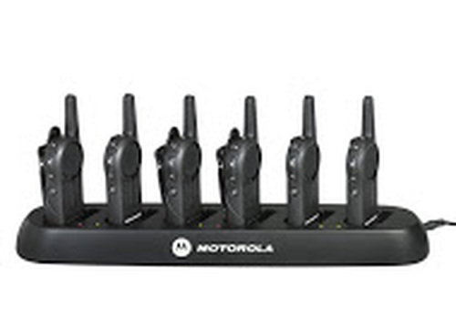 Motorola DLR1060 in a six port charging tray
