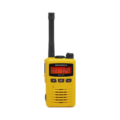 Motorola EVX-S24Y Yellow Digital UHF Two Way Radio