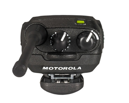 Top view of the Motorola CP185 Two Way Radio