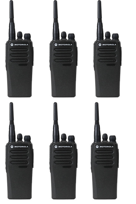 Motorola CP200 Digital Two Way Radio Pack of 6