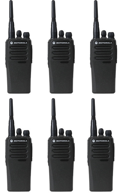 Motorola CP200 Digital Two Way Radio Pack of 6