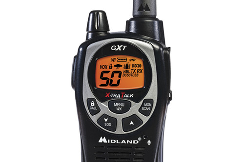 Midland GXT1000VP4 walkie talkies have a range of up to 36 miles.