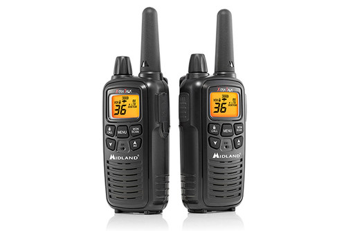 Midland LXT600BB FRS Business Two Way Radio Bundle with Charger and Headsets