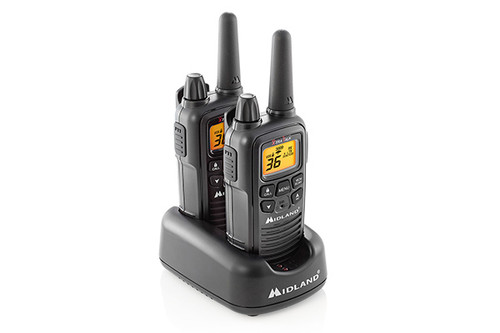 Midland LXT600BB  FRS Business Walkie Talkie Bundle with Headsets