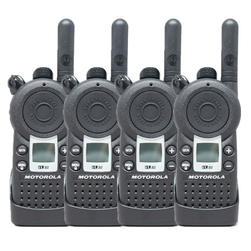 Motorola VL50 1 Watt 8 Channel UHF Two Way Radio Pack of 4
