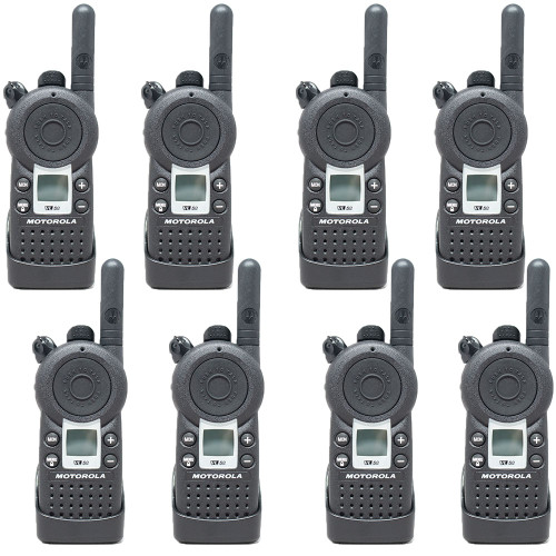 Motorola VL50 1 Watt 8 Channel UHF Two Way Radio, Pack of 8