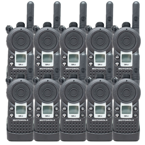 10 Pack of Motorola VL50 1 Watt UHF 8 Channel Two Way Radios