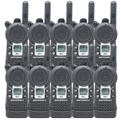 10 Pack of Motorola VL50 1 Watt UHF 8 Channel Two Way Radios