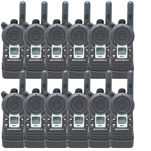 Motorola VL50 1 Watt 8 Channel UHF Two Way Radio, Pack of 12