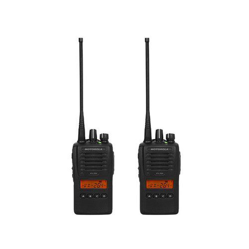 Motorola VX-264 2 Pack of 5 Watt Two Way Radios available in UHF or VHF models