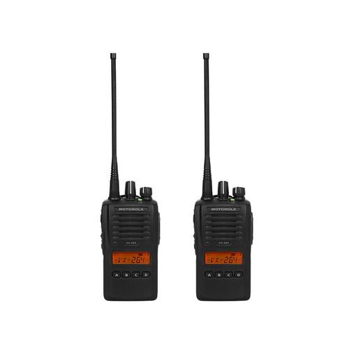 Motorola VX-264 2 Pack of 5 Watt Two Way Radios available in UHF or VHF models
