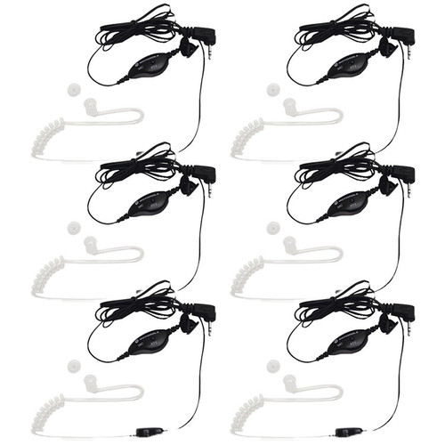 Motorola Talkabout Surveillance Style Earpiece Model 1518.  Fits all Motorola Talkabout Models with a single pin headset connection.  Pack of 6.