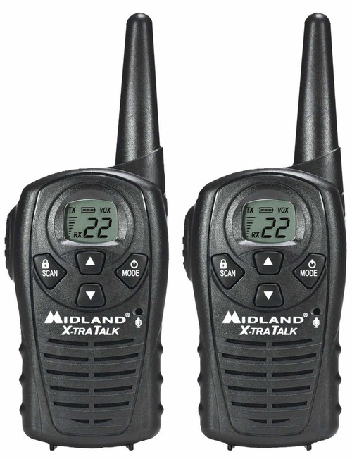 Midland LXT118 FRS Walkie Talkies, Pair of 2