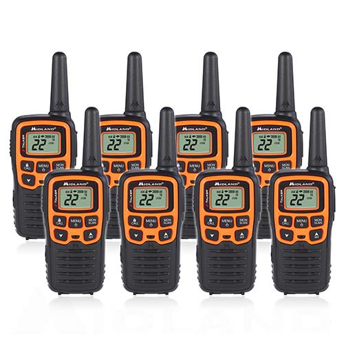 cd8eb78fa7d Midland X-Talkier T51VP3 22 Channel FRS Two Way Radio 4 Pack