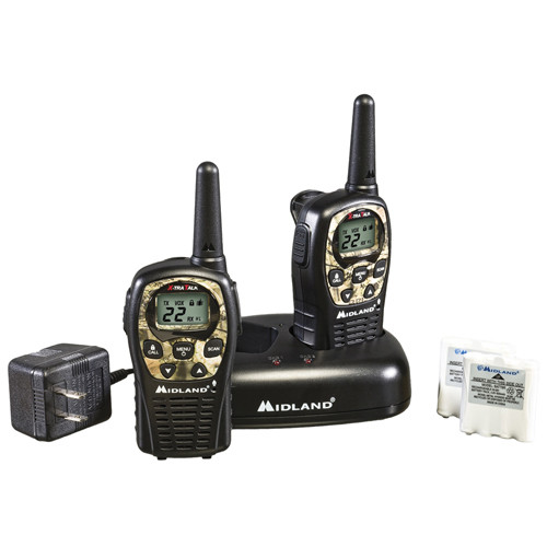 Midland LXT535VP3 22 Channel, 28 Mile Rechargeable Two Way Radios, pack of 2