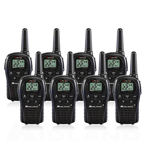 Midland LXT500VP3 FRS Walkie Talkies, Pack of 8
