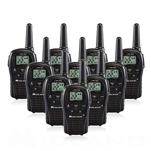 Midland LXT500VP3 FRS Walkie Talkies, 10 Pack