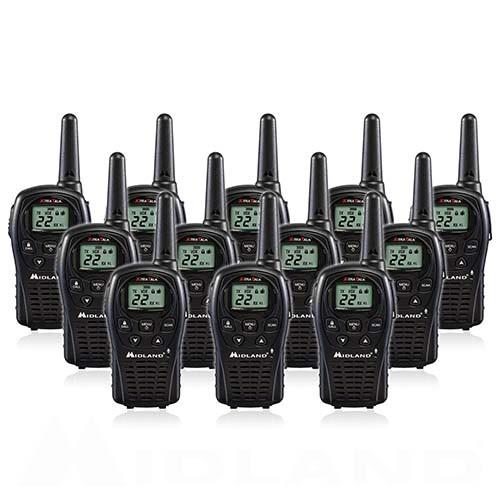 Midland LXT500VP3 FRS Walkie Talkies, Pack of 12