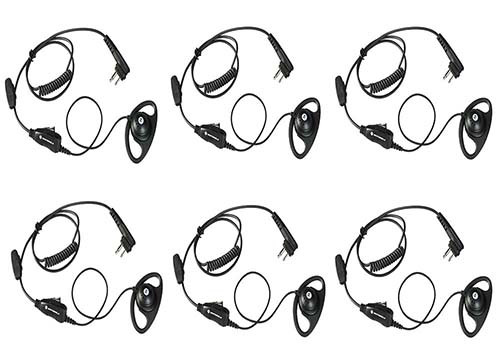Motorola HKLN4599 D Ring Earpiece, Set of 6