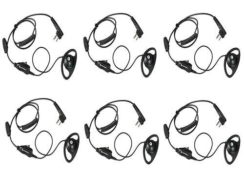 Motorola HKLN4599 D Ring Earpiece, Set of 6