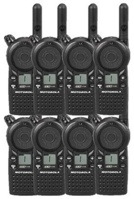 Motorola CLS1110 Two Way Radio, Bundle of 8 CLS1110 two way radios