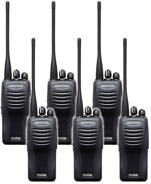 Kenwood TK-3400U16P 2 Watt 16 Channel UHF Two Way Radio Pack of 6